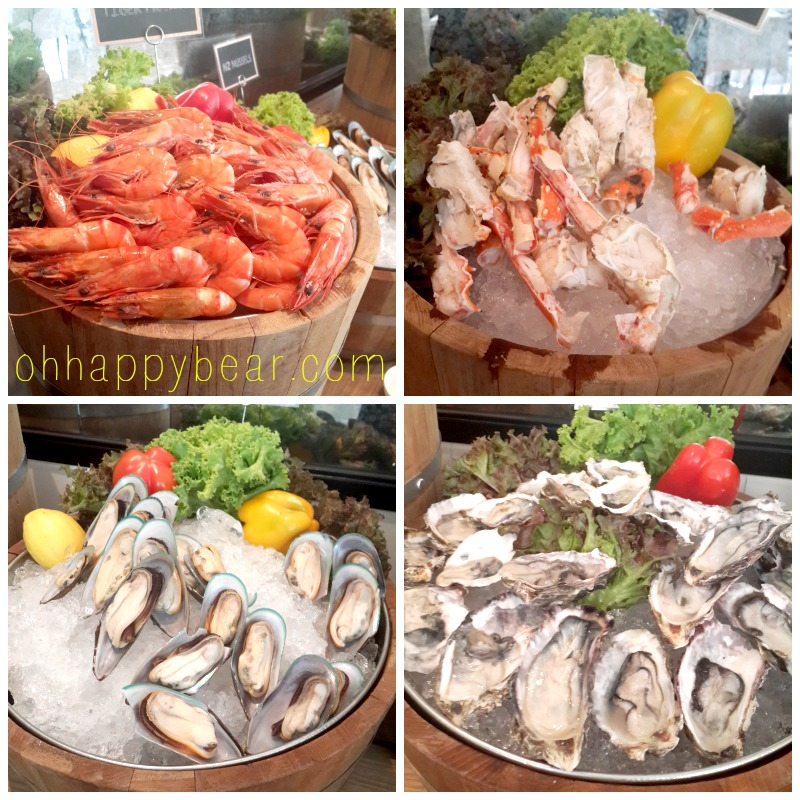 The ongoing seafood promotion at Cafe Claire at the Oriental Residence on Witthayu (Wireless) Road.